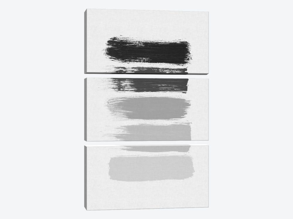 B&W Stripes by Orara Studio 3-piece Canvas Print