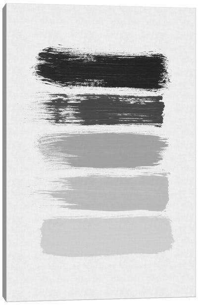 B&W Stripes Canvas Art Print