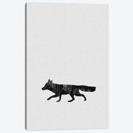 Fox B&W Canvas Print #ORA72} by Orara Studio Canvas Art