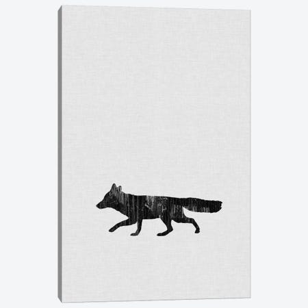 Fox B&W Canvas Print #ORA72} by Orara Studio Canvas Art