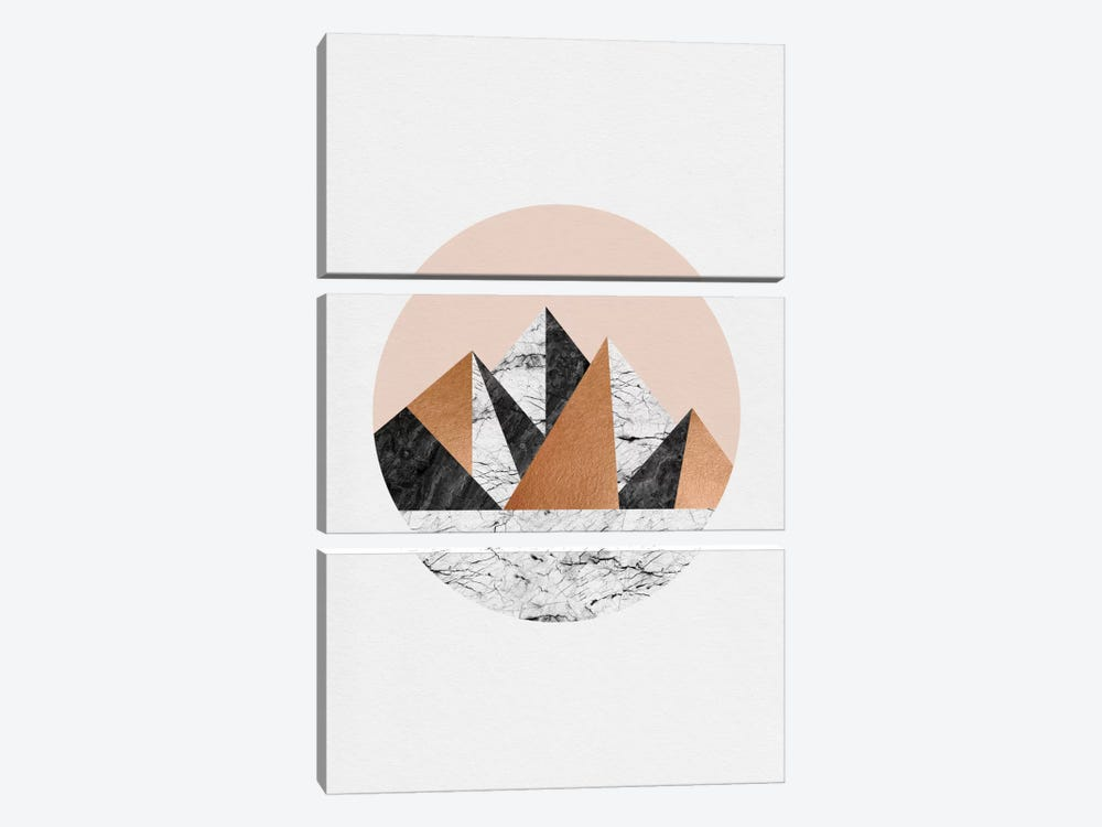 Geo Landscape Circle by Orara Studio 3-piece Canvas Art Print