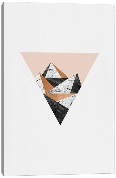 Geo Landscape Triangle Canvas Art Print