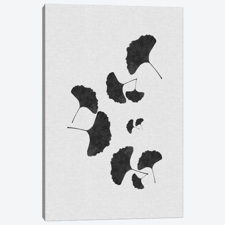 Ginkgo Leaf I B&W 3-Piece Canvas #ORA79} by Orara Studio Canvas Art