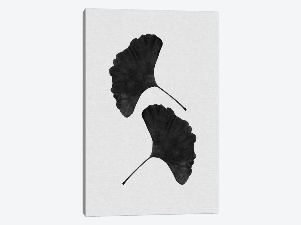Ginkgo Leaf II B&W by Orara Studio 1-piece Canvas Art