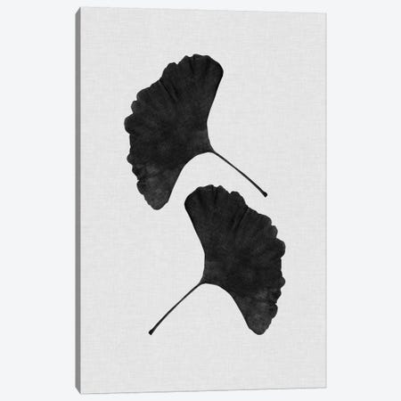 Ginkgo Leaf II B&W Canvas Print #ORA81} by Orara Studio Canvas Art Print