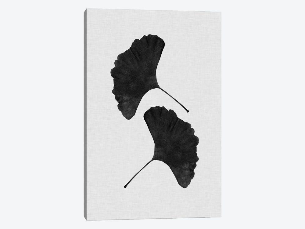 Ginkgo Leaf II B&W by Orara Studio 1-piece Canvas Art