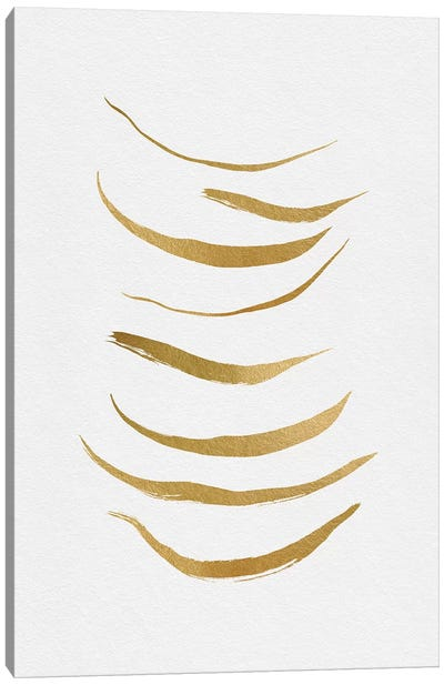 Gold Abstract Canvas Art Print