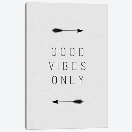 Good Vibes Only Arrow Canvas Print #ORA88} by Orara Studio Art Print