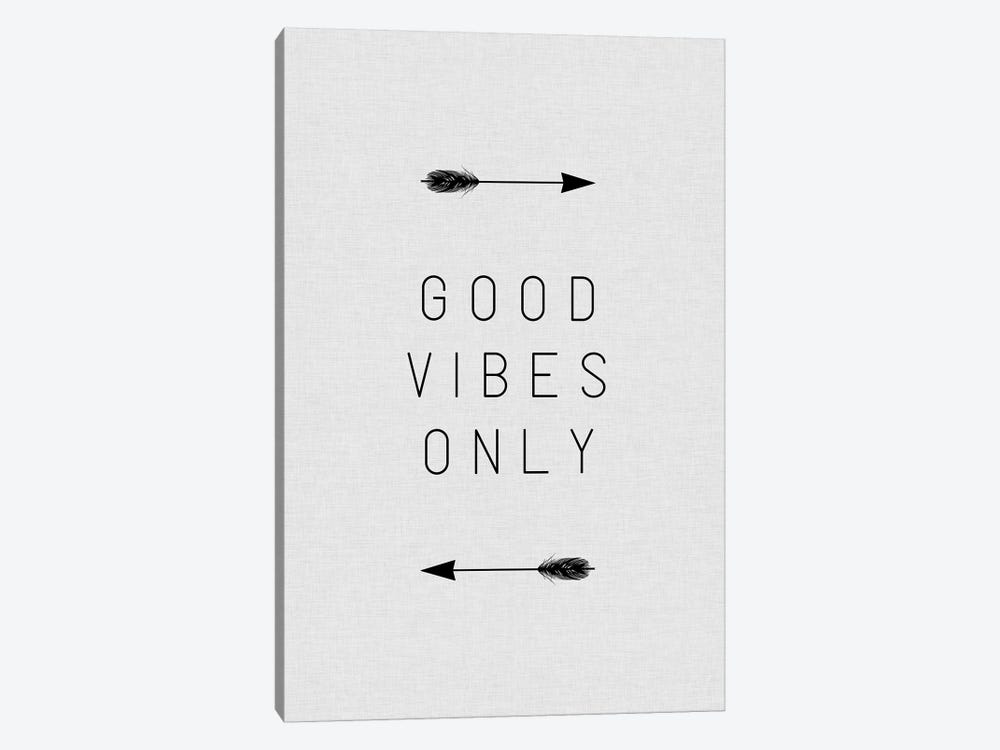 Good Vibes Only Arrow by Orara Studio 1-piece Canvas Art Print