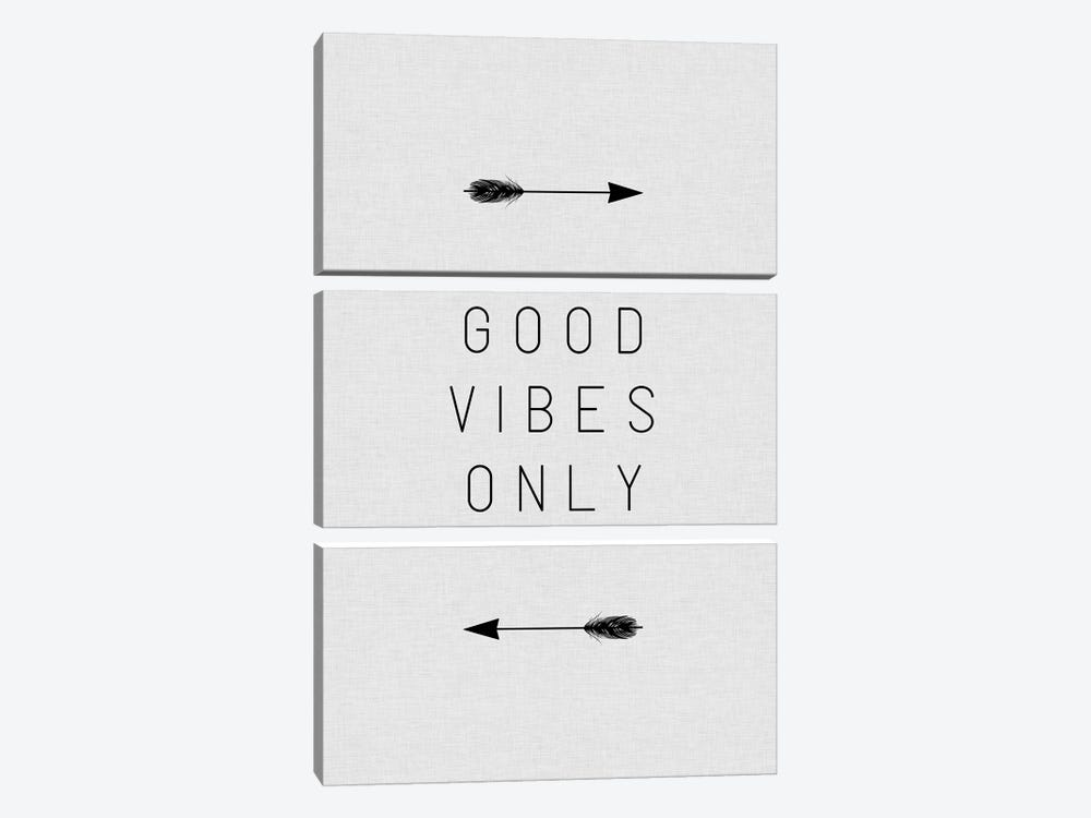 Good Vibes Only Arrow by Orara Studio 3-piece Canvas Print