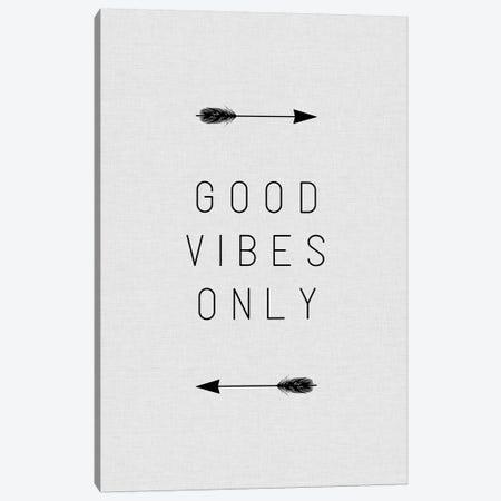 Good Vibes Only Arrow Canvas Print #ORA88} by Orara Studio Art Print