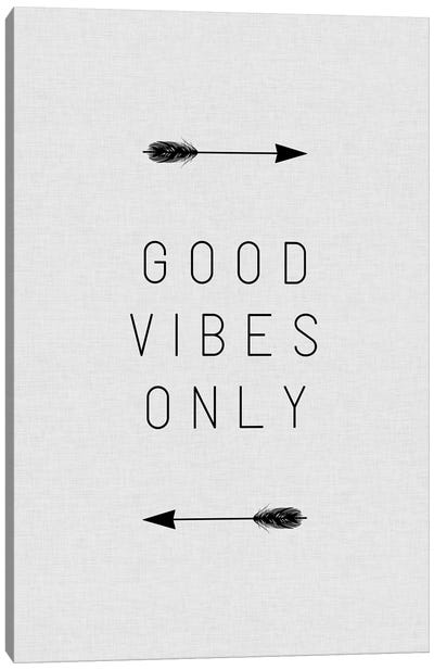 Good Vibes Only Arrow Canvas Art Print