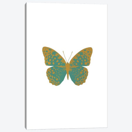 Green Butterfly Canvas Print #ORA89} by Orara Studio Canvas Print