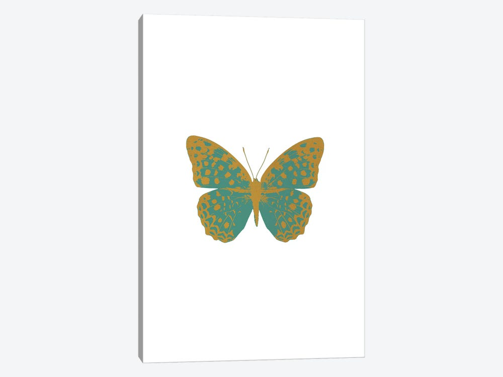Green Butterfly by Orara Studio 1-piece Canvas Artwork