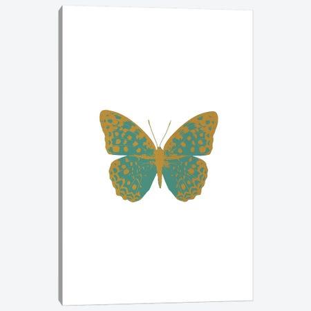 Green Butterfly Canvas Print #ORA89} by Orara Studio Canvas Print