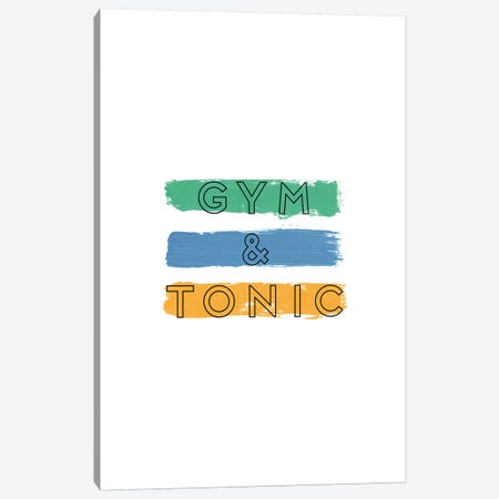 Gym & Tonic Canvas Print #ORA90} by Orara Studio Canvas Artwork