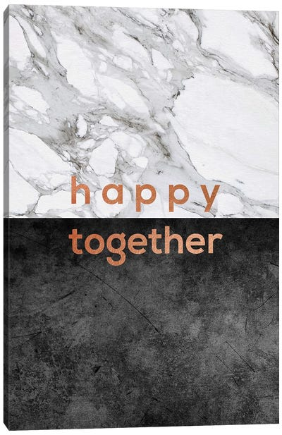 Happy Together Copper Canvas Art Print
