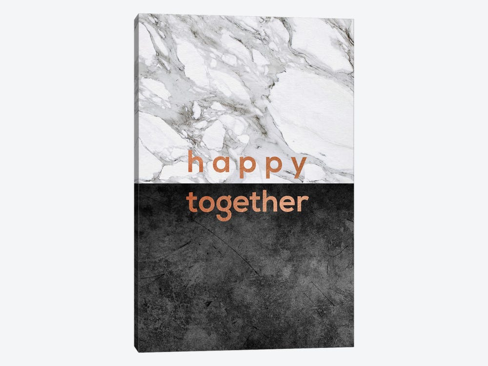 Happy Together Copper 1-piece Canvas Print