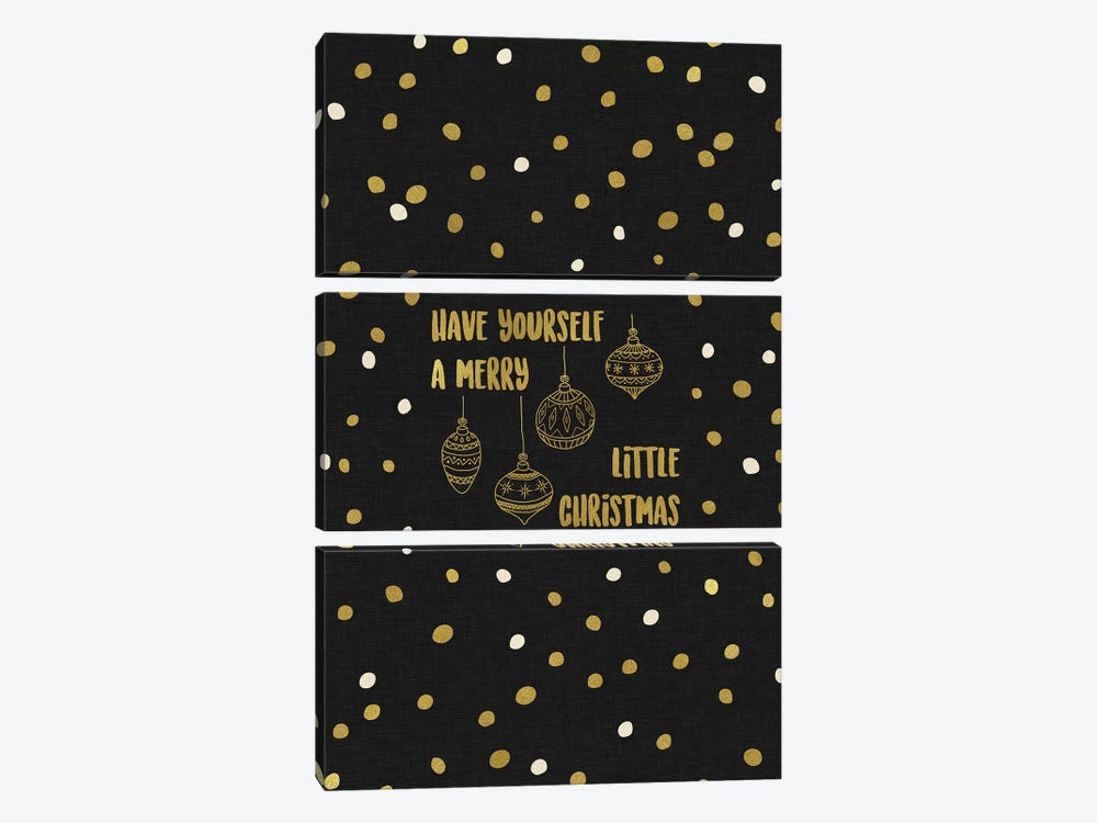 Have Yourself A Merry Gold by Orara Studio 3-piece Canvas Print
