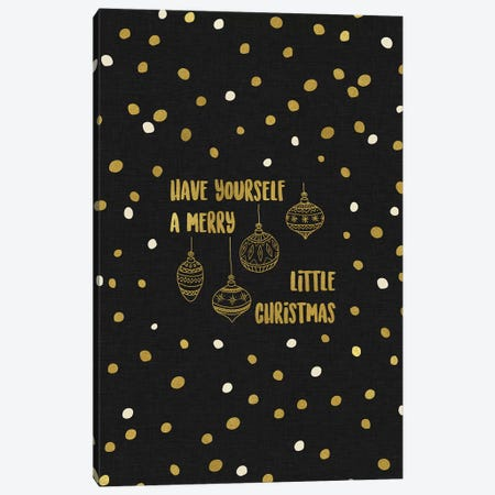 Have Yourself A Merry Gold Canvas Print #ORA99} by Orara Studio Canvas Wall Art