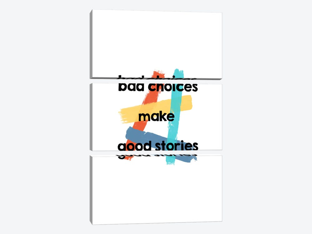Bad Choices 3-piece Canvas Artwork