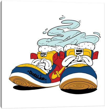 Kicks Canvas Art Print