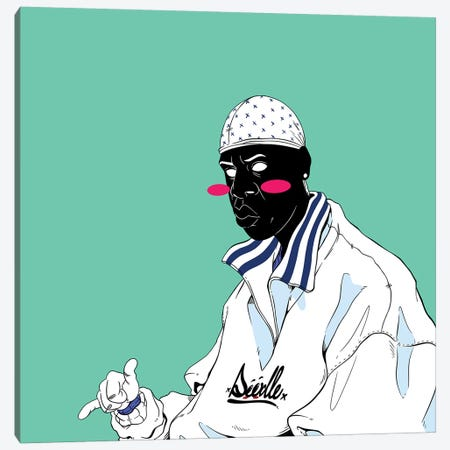 Jay Canvas Print #ORD17} by Jordan Best Canvas Wall Art