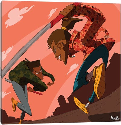 League Of Samurai Canvas Art Print