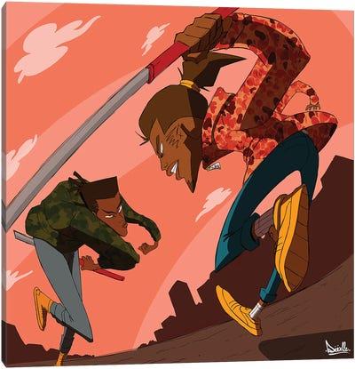 League Of Samurai Canvas Art Print