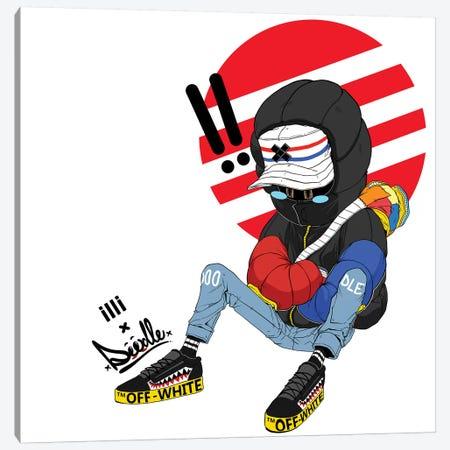 Off-White Canvas Print #ORD25} by Jordan Best Canvas Print