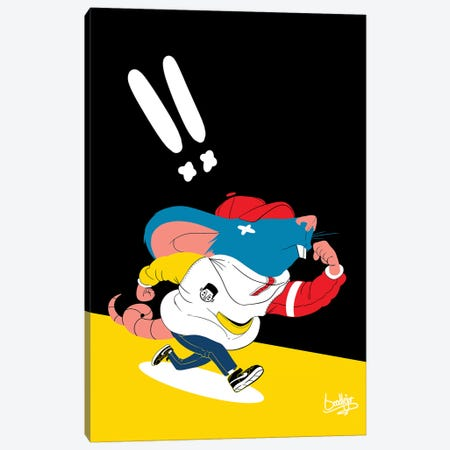 Ricky Rat Canvas Print #ORD29} by Jordan Best Canvas Artwork