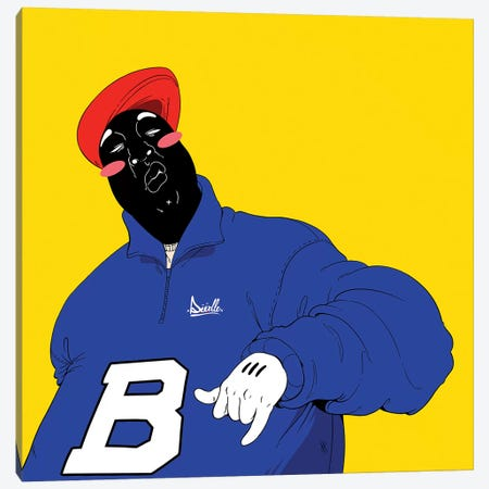 Biggie Canvas Print #ORD3} by Jordan Best Canvas Print