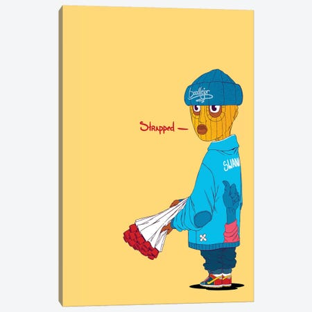 Thug Canvas Print #ORD41} by Jordan Best Canvas Artwork