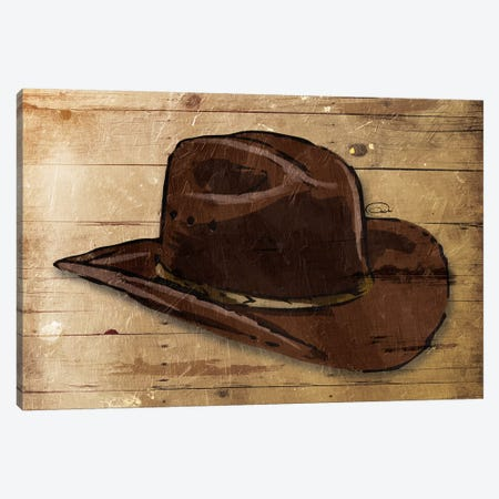 Sketched Hat Canvas Print #ORE11} by On Rei Canvas Wall Art