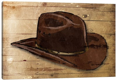 Sketched Hat Canvas Art Print