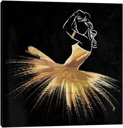 Golden Dress Puff Canvas Art Print