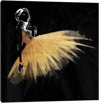 Golden Dress Puff Mate Canvas Art Print