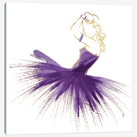 Purple Gold Attitude Canvas Print #ORE15} by On Rei Canvas Art Print