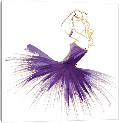 Purple Gold Attitude Canvas Art Print