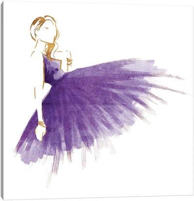 Purple Gold Attitude Mate Canvas Art Print