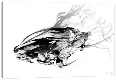 Car Smokin Canvas Art Print