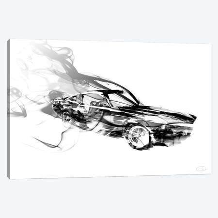 Smokin Car Canvas Print #ORE23} by On Rei Art Print