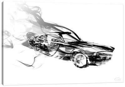 Smokin Car Canvas Art Print