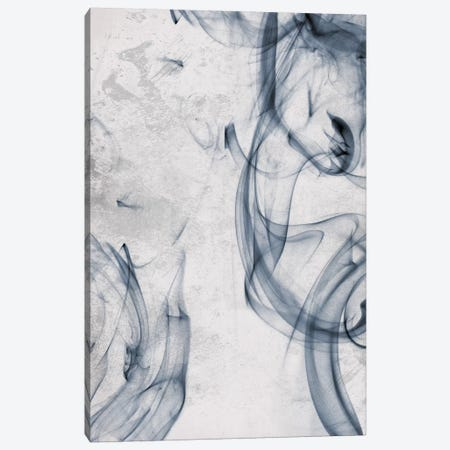 Blue Smoke Canvas Print #ORE24} by On Rei Canvas Artwork