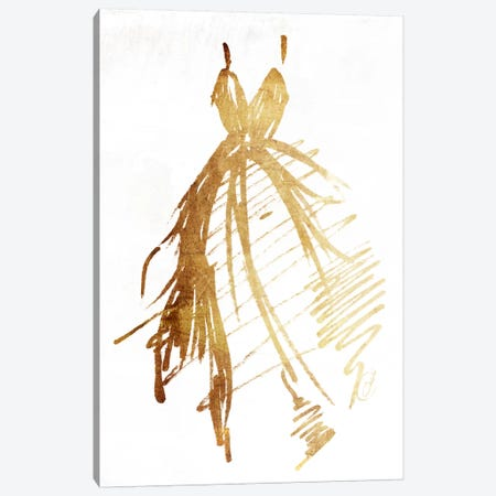 Runway Dress Canvas Print #ORE2} by On Rei Canvas Art