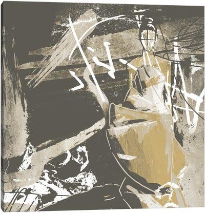 Beige Abstract Dress Canvas Art Print