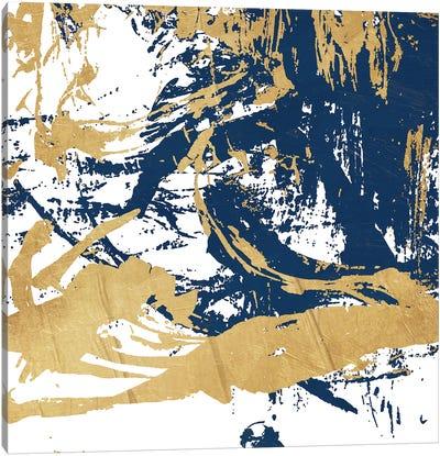 Free Form Blue Canvas Art Print