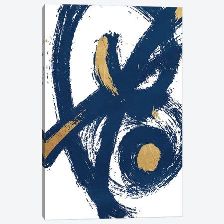 Jaidens Swirl Blue Canvas Print #ORE44} by On Rei Canvas Art