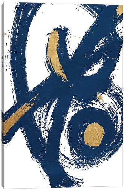 Jaidens Swirl Blue Canvas Art Print
