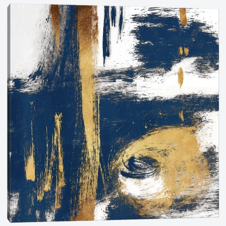 Rotational Pull Blue Canvas Print #ORE45} by On Rei Canvas Wall Art